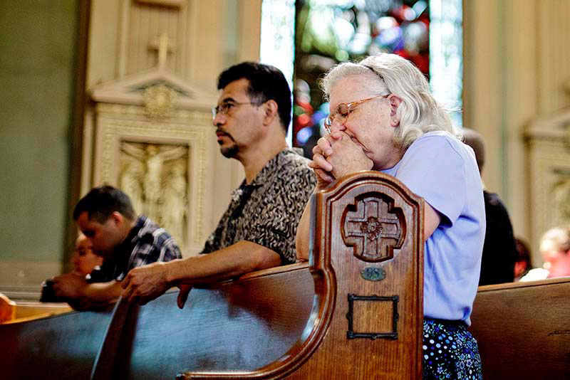 Prayer sustains Sister Patricia, whose devotes 60 to 70 hours a week to her ministry with Maine's Hispanic people. Credit: Gabe Souza/Portland Press Herald.